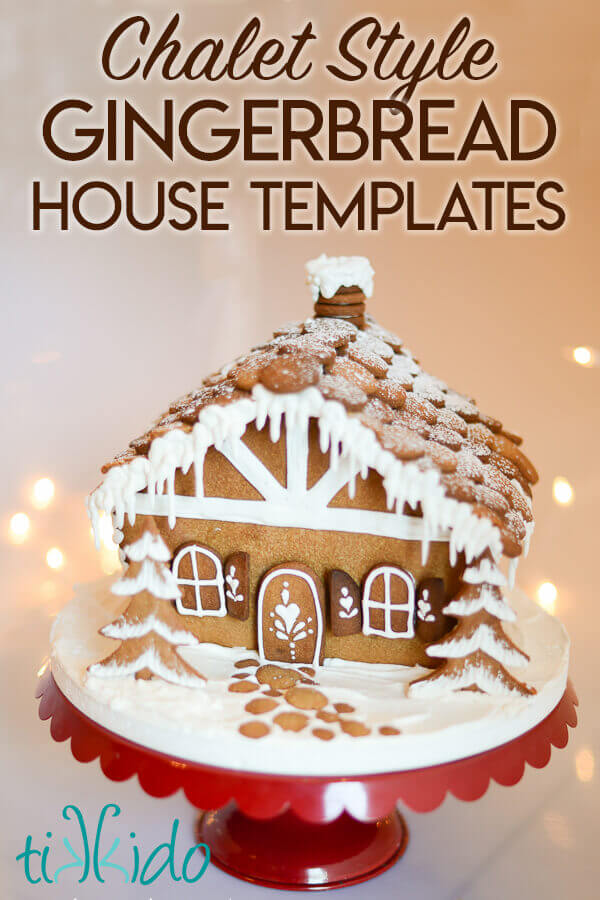 This is a picture of Gingerbread House Templates Printable for design