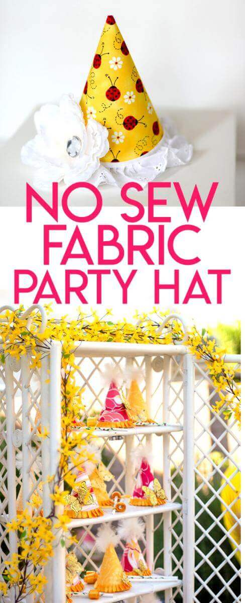 No Sew Fabric Covered Birthday Party Hat Tutorial Tikkido Com