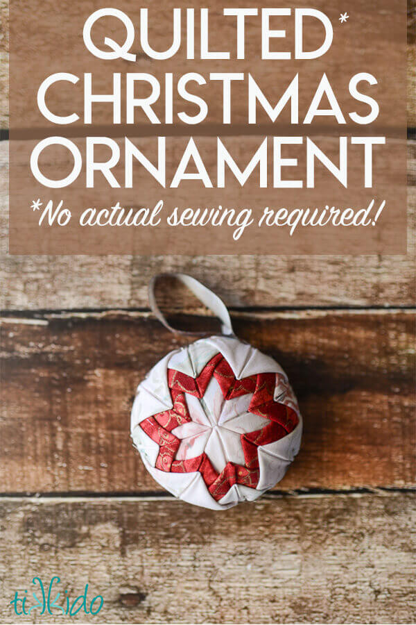 Easy Quilt Christmas Ornament Tutorial No Actual Sewing Or Quilting