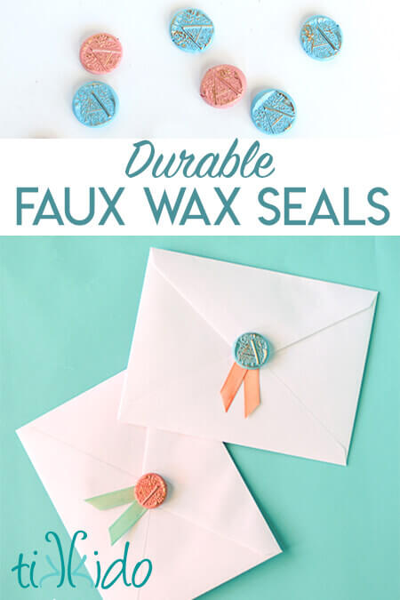Make durable faux wax seals out of polymer clay for invitations, favors, and more.