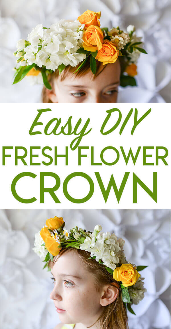 Easy Diy Fresh Flower Crown Tutorial Tikkido Com