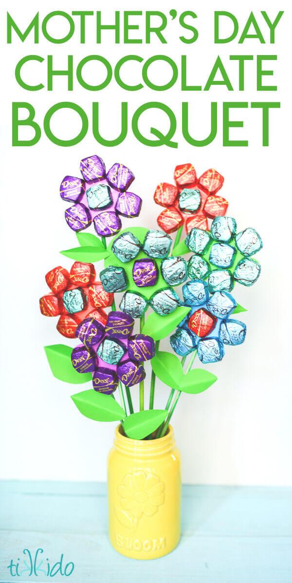 Delicious Dark Chocolate Mother\'s Day Bouquet Tutorial | Tikkido.com