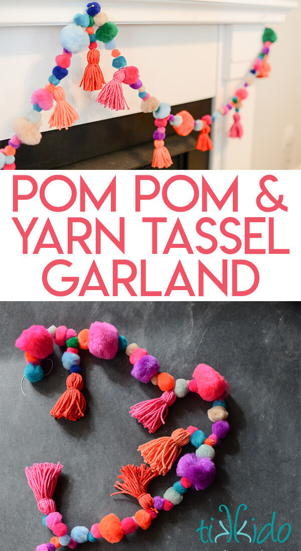 Colorful Playful Pom Pom And Yarn Tassel Garland Tutorial Tikkido Com