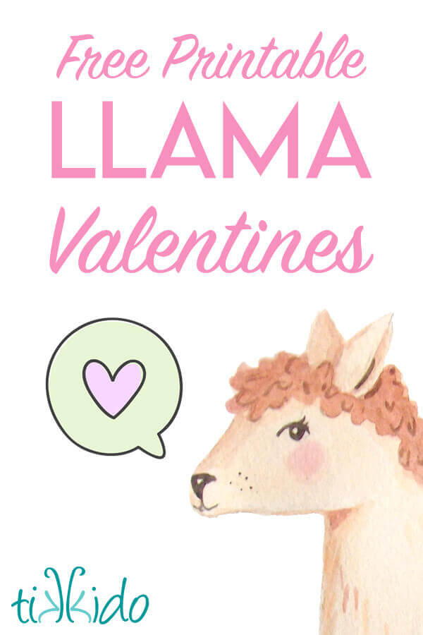 picture relating to Valentines Free Printable called Absolutely free Printable Llama Valentines