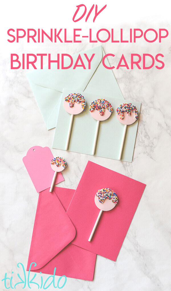 Easy Sprinkles Lollipop Card Tutorial Tikkido Com
