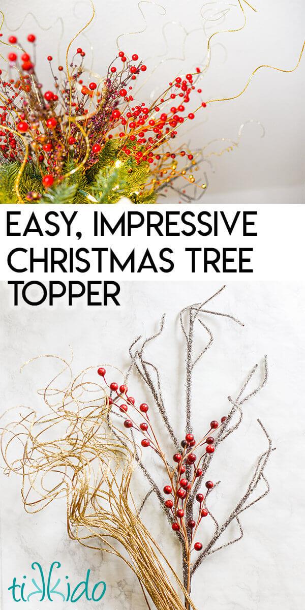 Easy Dramatic Diy Christmas Tree Topper Tikkido Com