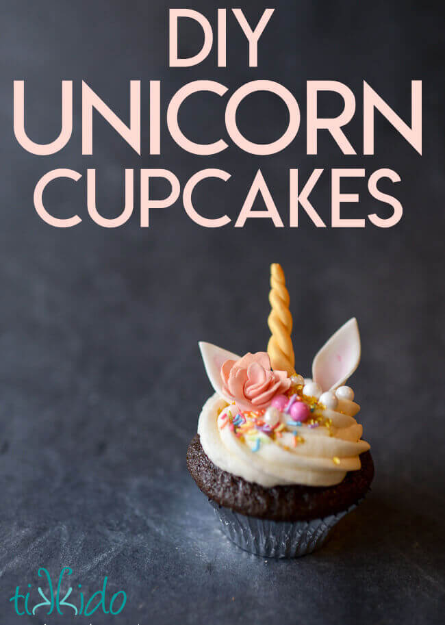 Tutorial for making these easy and magical unicorn cupcakes.