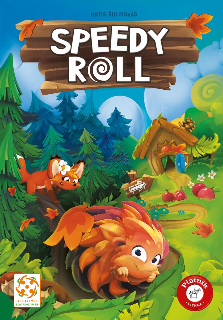Speedy Roll board game box art.