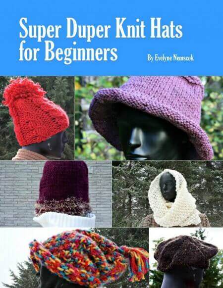 Giveaway! Super Duper Knit Hats for Beginners Book and Patterns Tikkido.com