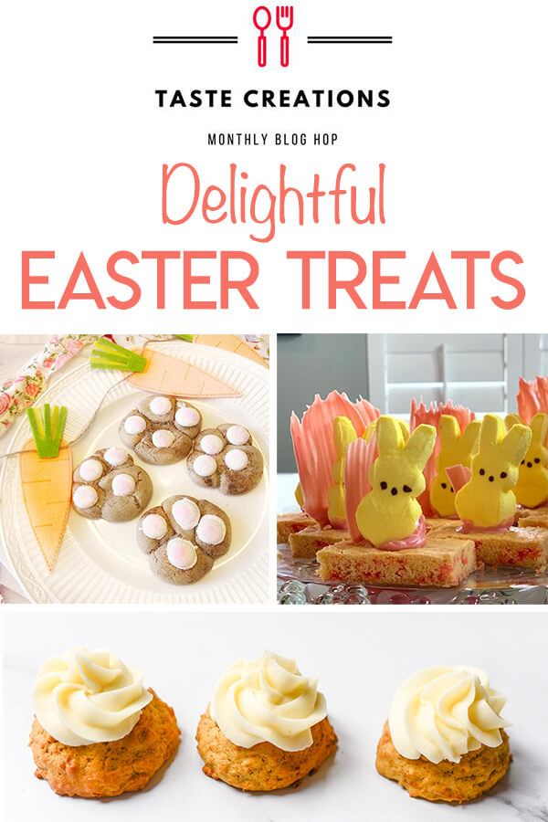 Collage of Easter treat recipe images optimized for pinterest.