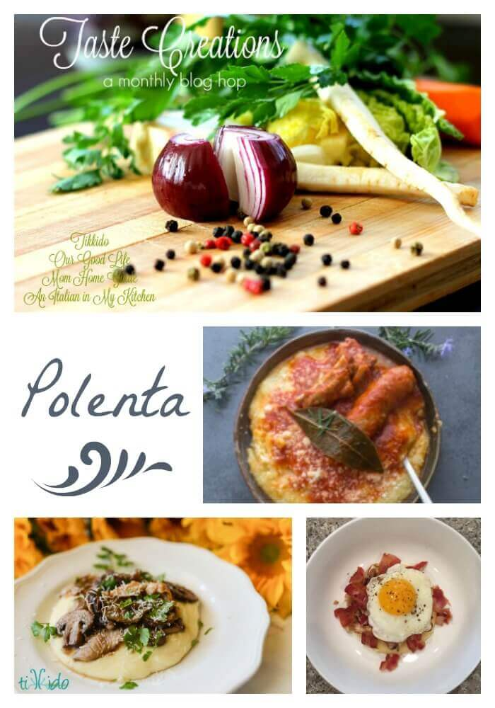 Collage of polenta recipes optimized for pinterest.