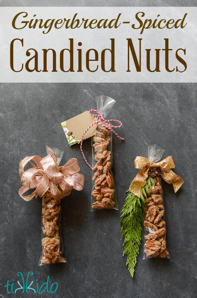 Gingerbread Spiced Candied Nuts Recipe | Tikkido.com