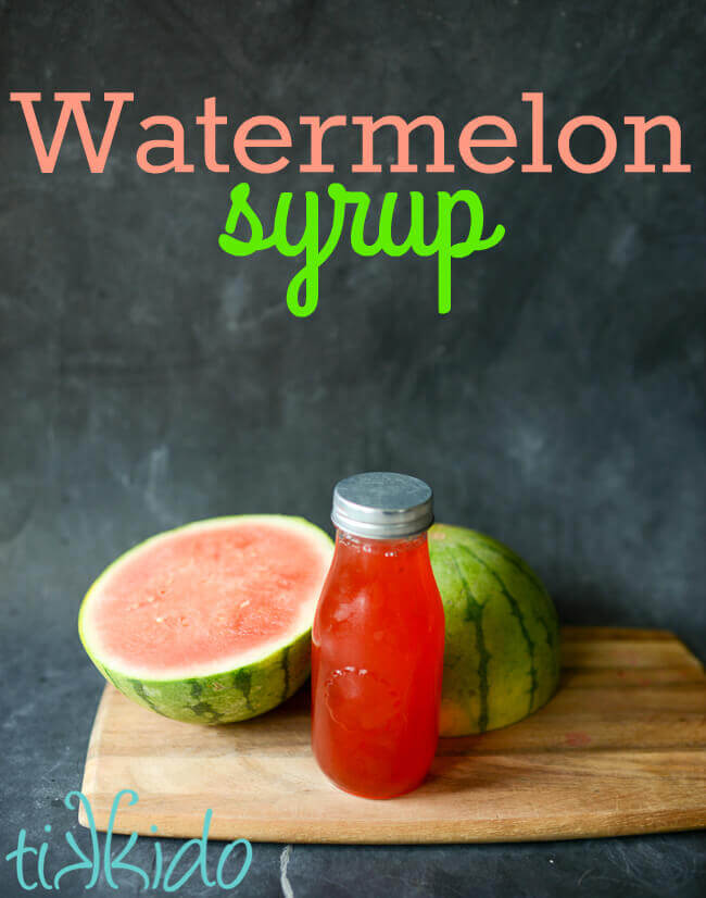 Homemade watermelon syrup tastes like summer and makes absolutely amazing homemade sodas, Italian sodas, and cocktails.