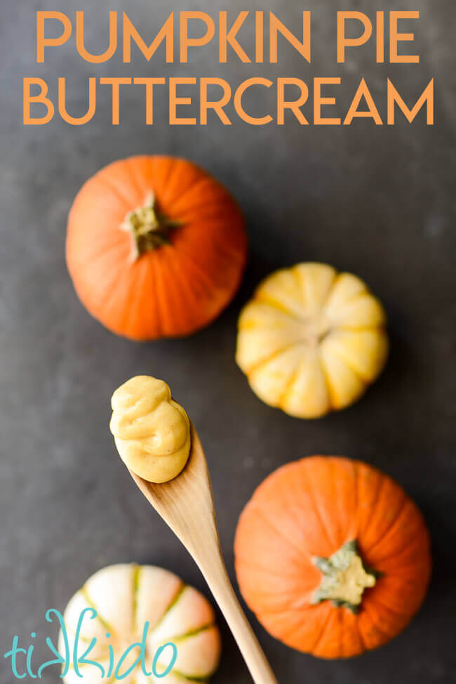Pumpkin pie buttercream icing