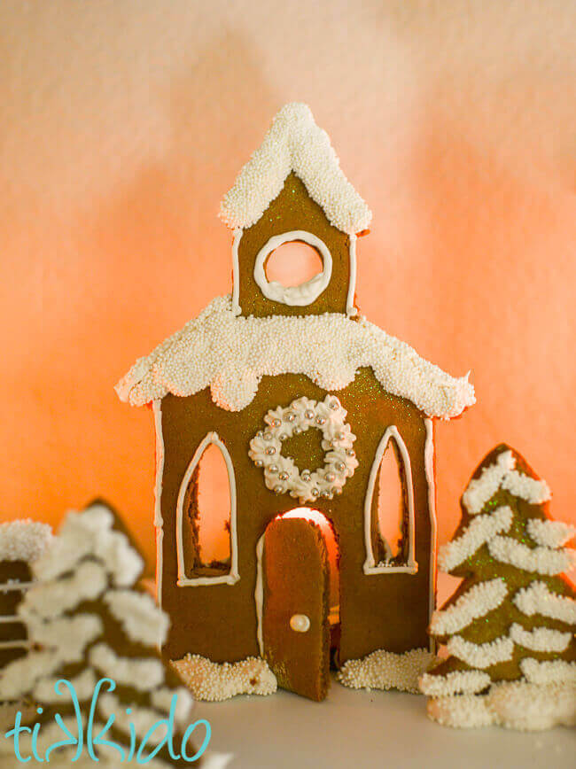 Gingerbread town candle holders christmas mantle tutorial with free remember heres the recipe for my favorite gingerbread house dough and download the free printable gingerbread house village candle holder templates in a maxwellsz