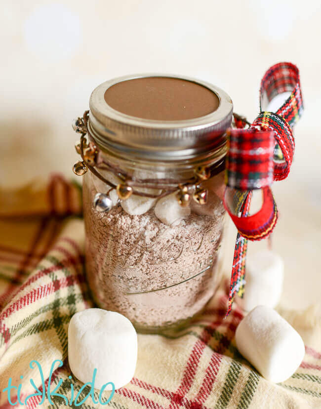 Homemade Hot Chocolate mix makes a great edible Christmas present.
