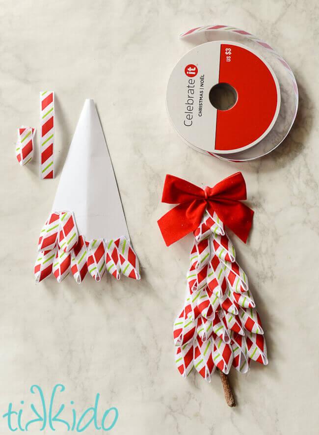 Easy DIY Ribbon Christmas Tree Gift Tag or Christmas ...