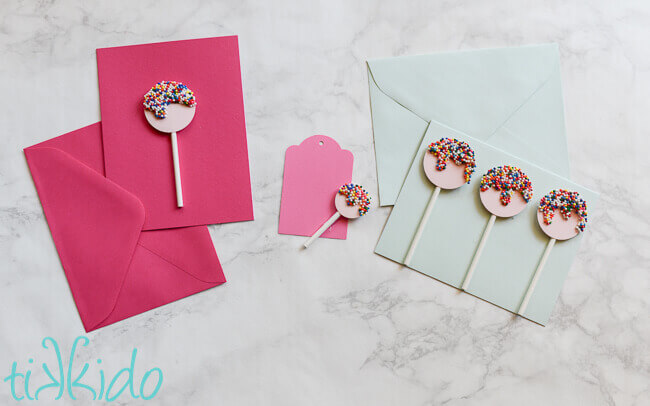 Sprinkle lollipop homemade birthday card tutorial