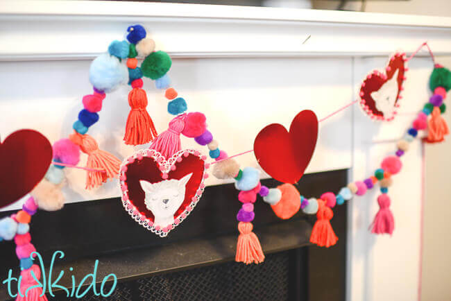 photo about Printable Valentines Decorations identified as Do-it-yourself Llama Valentines Working day Garland (with Absolutely free Printable