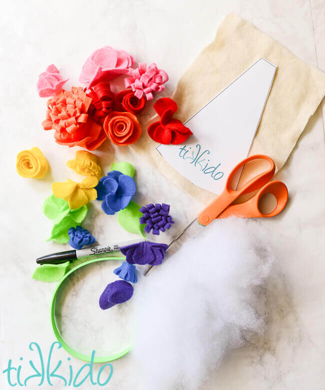 Easy Diy Felt Unicorn Horn Headband Tutorial Free Printable