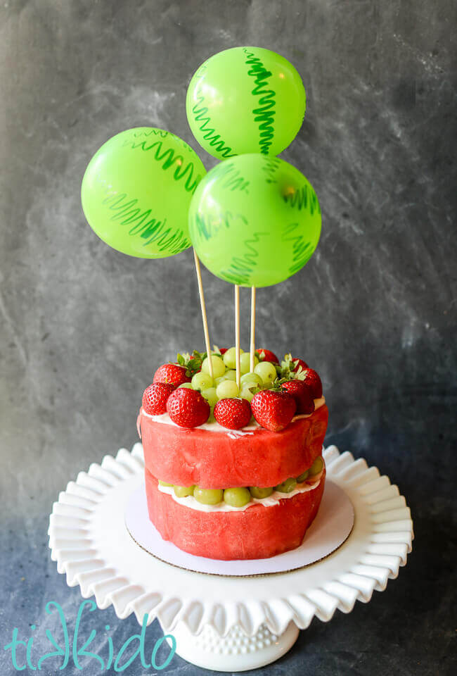 Healthy Fresh Watermelon and Fruit in a Cake Shape Tikkidocom