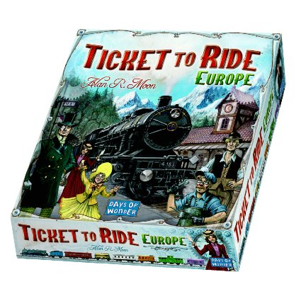 Box art for Ticket to Ride Europe board game, part of the Great Board Games for Families collection.