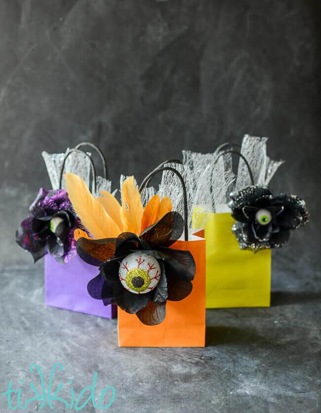 halloween eyeball gift wrap and favor packaging tutorial tikkido com