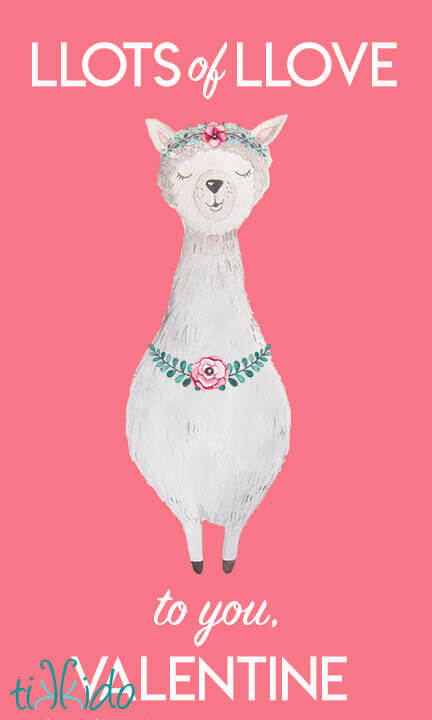 image relating to Llama Printable known as Cost-free Printable Llama Valentines