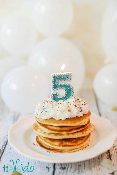 Easy Birthday Cake Pancakes Made With Batter