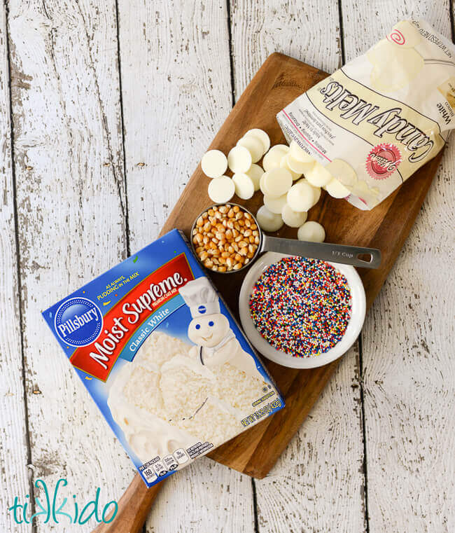 Birthday Cake Popcorn Recipe with Sprinkles Tikkidocom