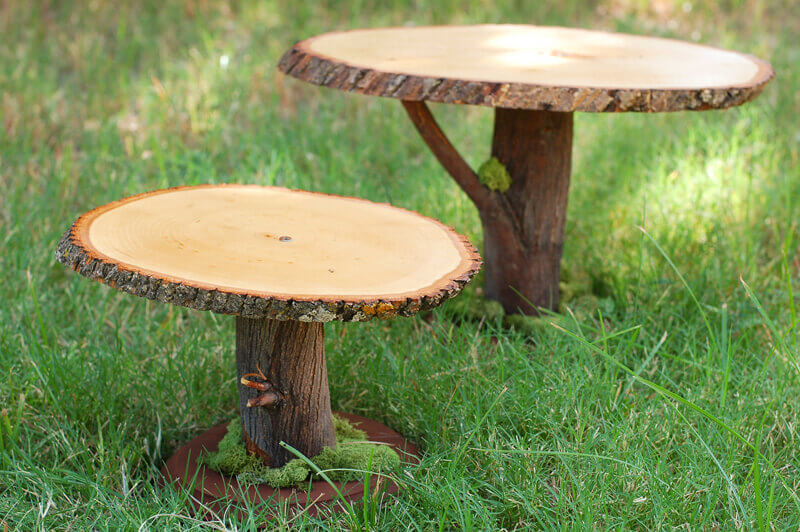 Diy Project Rustic Wooden Cake Stands From The Cornish
