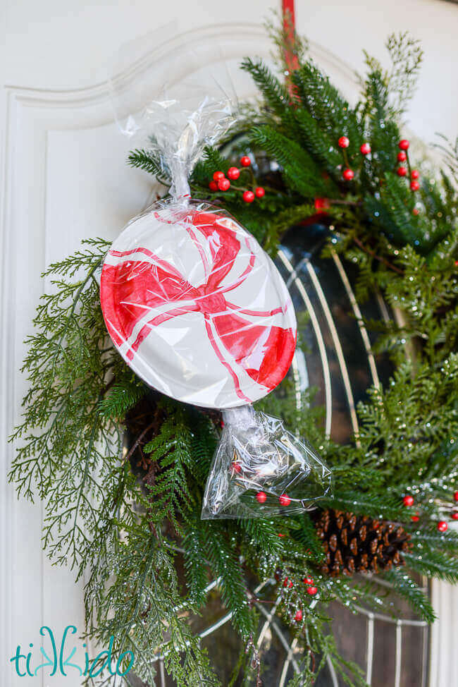 giant peppermint candy christmas garland decorations - Candy Christmas Decorations