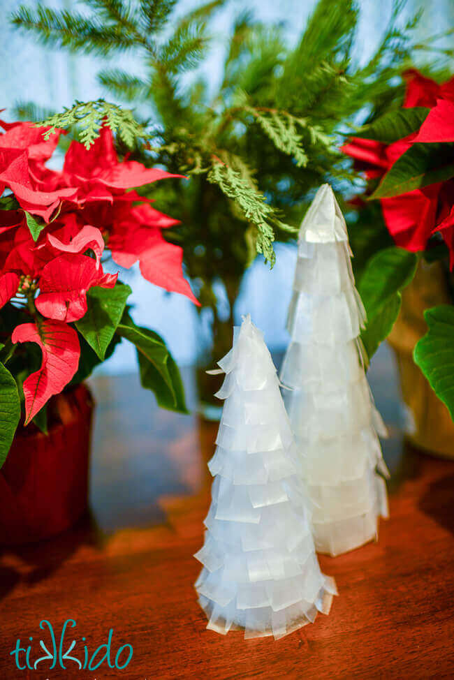 Capiz And Faux Capiz Tabletop Christmas Tree Tutorials