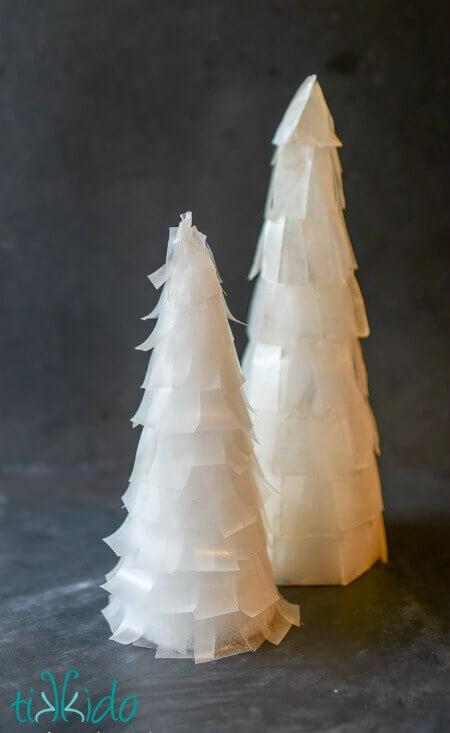 Capiz And Faux Capiz Tabletop Christmas Tree Tutorials