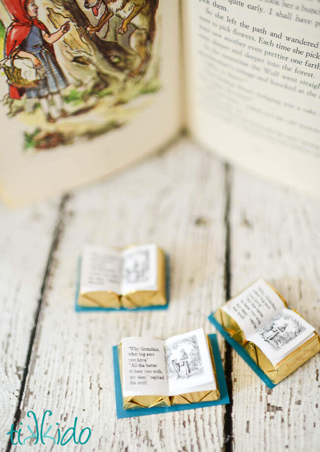 Miniature Chocolate Book Favor Printable by Tikkido