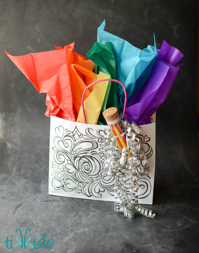 Coloring Pages Gift Bag