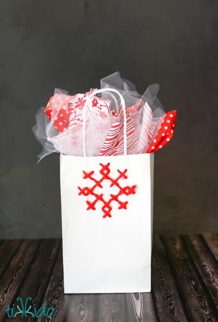 Cross Stitch Snowflake Gift Bag Tutorial Tikkido Com