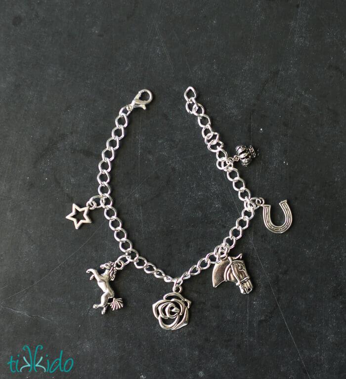 Easy Equestrian Charm Bracelet Tutorial