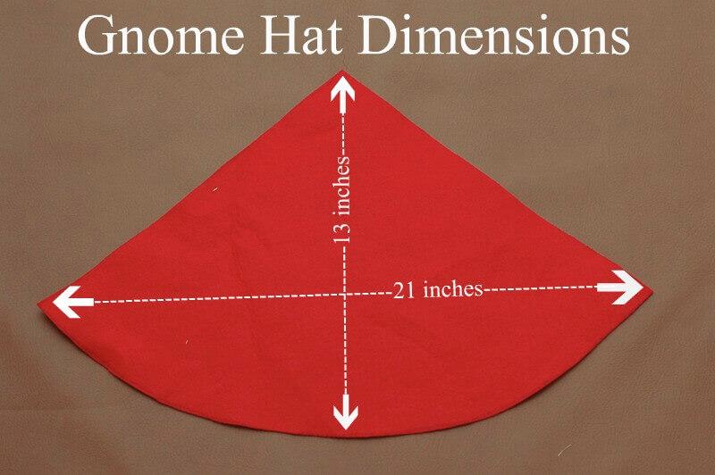 f946047efc4 Illustration of dimensions for a DIY Gnome Hat.