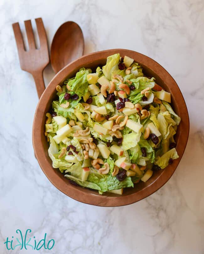 Festive Tossed Salad And Salad Dressing Recipe Tikkido Com