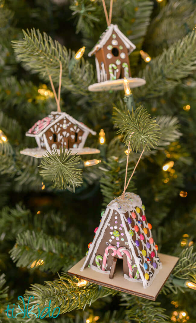 gingerbread house christmas ornament tutorial - Gingerbread House Christmas Decoration