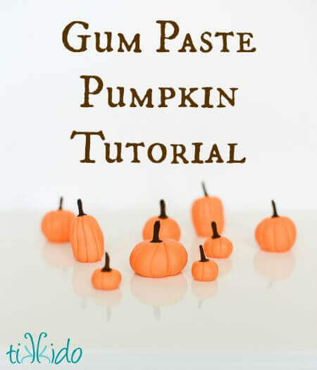 easy gum paste pumpkin fall cupcake topper - Article About Halloween
