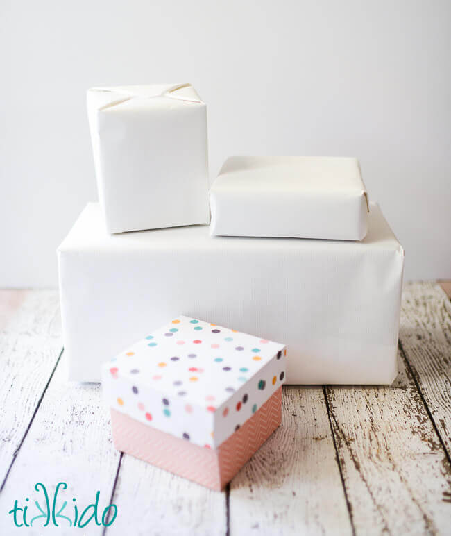 Charming Plain Gift Wrapping Paper Part - 13: I Wrapped Packages In Plain White Gift Wrapping Paper.