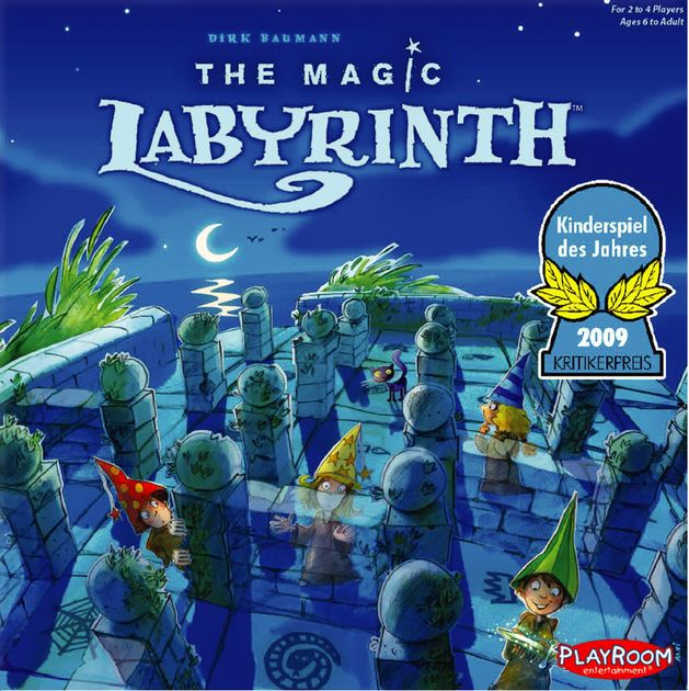 Box art for The Magic Labyrinth board game, winner of the 2009 Kinderspiel des Jahres.