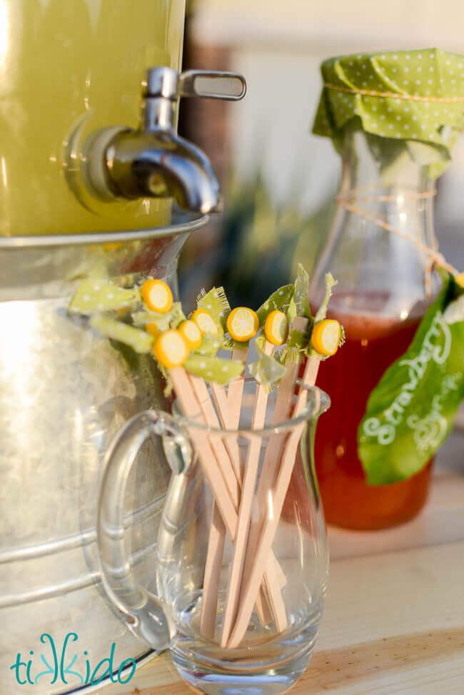 Polymer clay lemon slices party embellishments for Lemon shaped lemonade stand