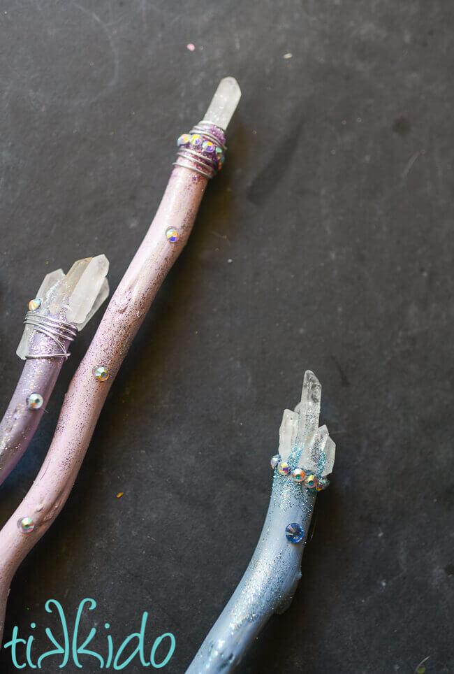 Luna lovegood harry potter inspired wands tutorial - Pastelltone wand ...