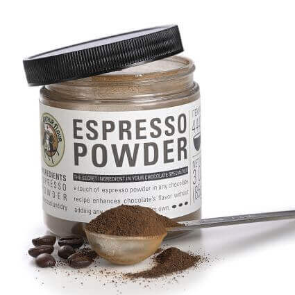 King Arthur espresso powder used to make coffee flavored cookies.