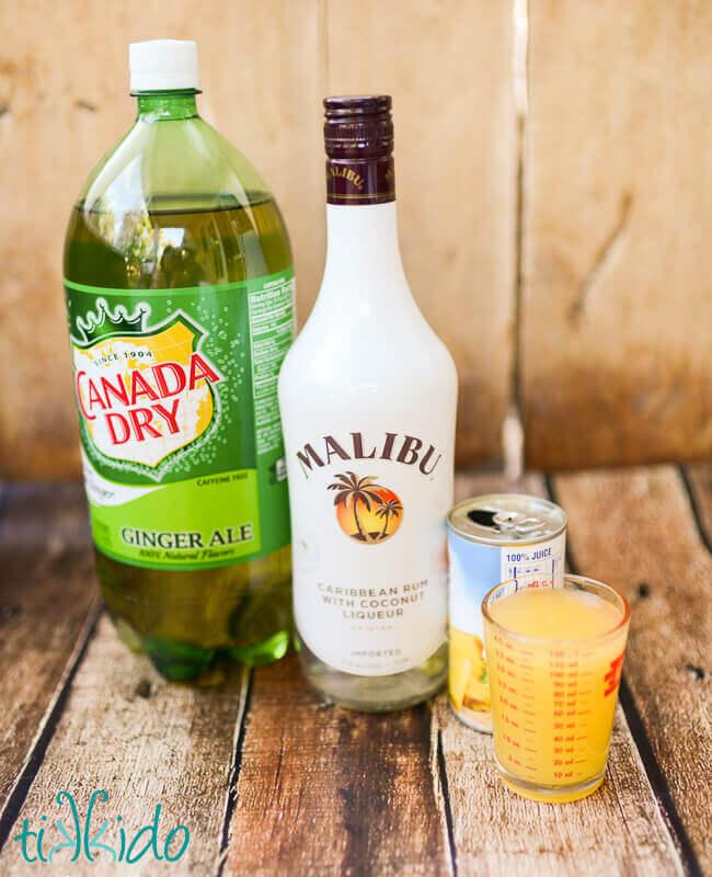 Pineapple Coconut Malibu Rum Summer Cocktail Recipe