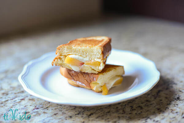 Peach, Honey, and Mascarpone Grilled Cheese Sandwich on ...