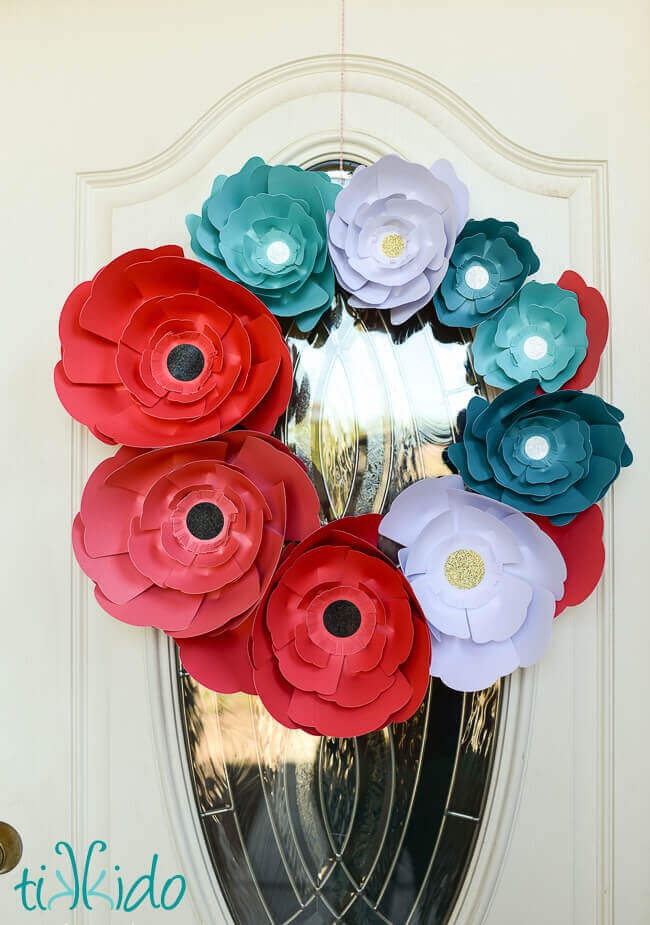 Paper Poppy Wreath Tutorial For Memorial Day With Michaels Paper